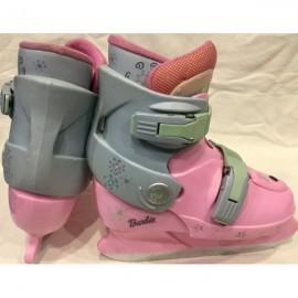 Коньки пластиковые, раздвижные Barbie