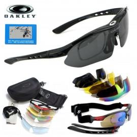 Тактические очки Oakley Polarized  Black с 5 сменными линзами и защитой UV400