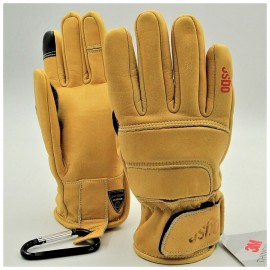 Перчатки горнолыжные, кожаные OGSO 3M HEAVY DUTY